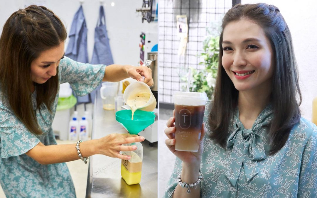 "Vivian Lai opens Teabrary tea studio, offering ""healthy bubble tea"""